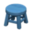 Wooden Stool (Blue - None)