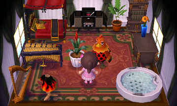 Interior of Broffina's house in Animal Crossing: New Leaf