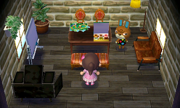 Interior of Claude's house in Animal Crossing: New Leaf