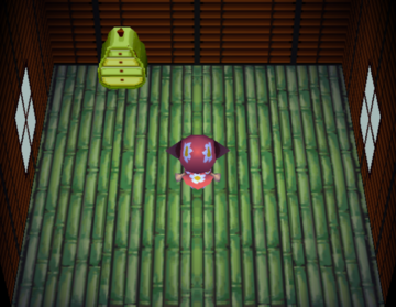 Interior of Flossie's house in Animal Crossing