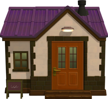 Exterior of Mallary's house in Animal Crossing: New Horizons