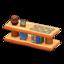 Log Decorative Shelves (Orange Wood - Bears)