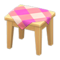 Wooden Mini Table (Light Wood - Pink) NH Icon.png