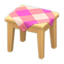 Wooden Mini Table (Light Wood - Pink)