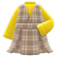 Checkered Jumper Dress (Yellow) NH Icon.png