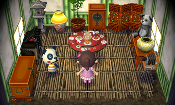 Interior of Chester's house in Animal Crossing: New Leaf