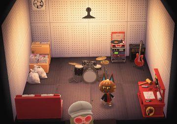 Interior of Katt's house in Animal Crossing: New Horizons
