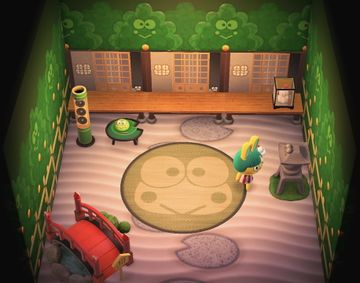 Interior of Toby's house in Animal Crossing: New Horizons