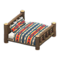 Log Bed (Dark Wood - Geometric Print) NH Icon.png