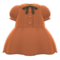 Pintuck-Pleated Dress (Brown) NH Icon.png