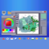Desktop Computer with the Art Program pattern applied.
