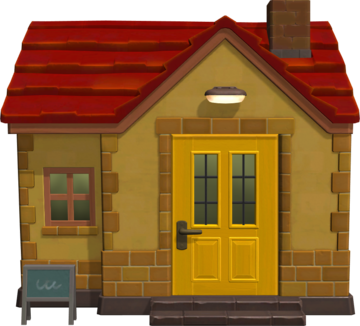 Exterior of Mott's house in Animal Crossing: New Horizons