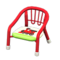 Baby Chair (Red - Train) NH Icon.png