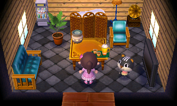 Interior of Blaire's house in Animal Crossing: New Leaf