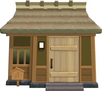 Exterior of Coco's house in Animal Crossing: New Horizons