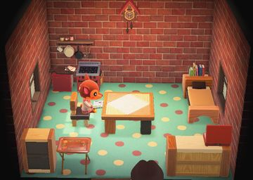 Interior of Fauna's house in Animal Crossing: New Horizons