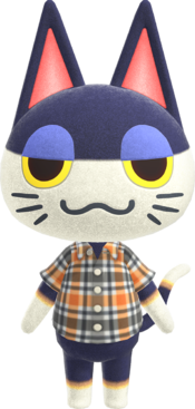 Punchy, an Animal Crossing villager.