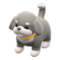 Puppy Plushie (Gray & White) NH Icon.png