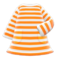 Striped Dress (Orange) NH Icon.png