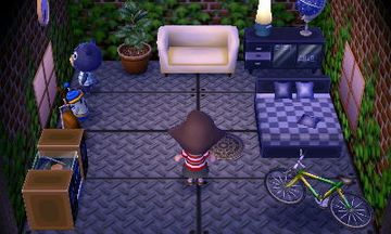 Interior of Poncho's house in Animal Crossing: New Leaf
