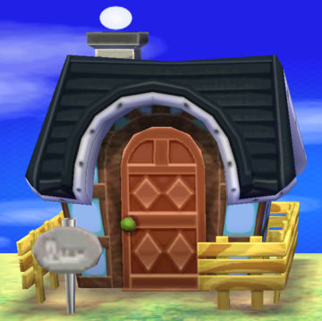 Exterior of Weber's house in Animal Crossing: New Leaf