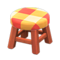 Wooden Stool (Cherry Wood - Orange) NH Icon.png