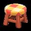 Wooden Stool (Cherry Wood - Orange)