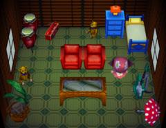 Bluebear's house interior