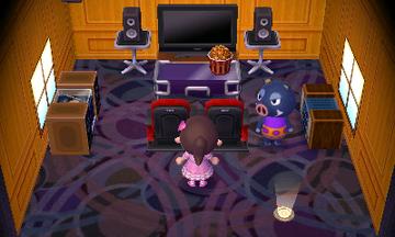 Interior of Boris's house in Animal Crossing: New Leaf