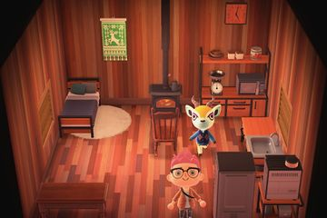 Interior of Lopez's house in Animal Crossing: New Horizons