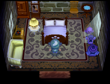 Interior of Pate's house in Animal Crossing