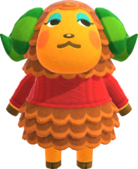 Timbra, an Animal Crossing villager.