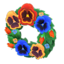 Snazzy Pansy Wreath