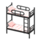 Bunk Bed (Black - Checkered) NH Icon.png
