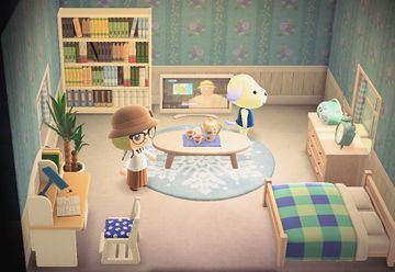 Interior of Daisy's house in Animal Crossing: New Horizons