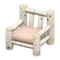 Log Chair (White Birch - None) NH Icon.png