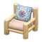 Log Chair (White Wood - Quilted) NH Icon.png
