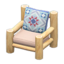 Log Chair (White Wood - Quilted)