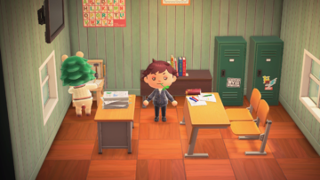 Interior of Leopold's house in Animal Crossing: New Horizons