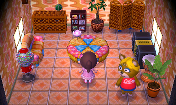 Interior of Paula's house in Animal Crossing: New Leaf