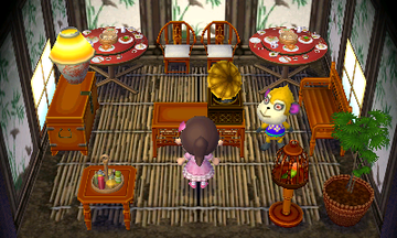 Interior of Tammi's house in Animal Crossing: New Leaf