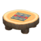 Log Round Table (Dark Wood - Geometric Print) NH Icon.png