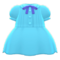 Pintuck-Pleated Dress (Light Blue) NH Icon.png