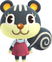 Blaire, an Animal Crossing villager.