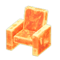Frozen Chair (Ice Orange) NH Icon.png