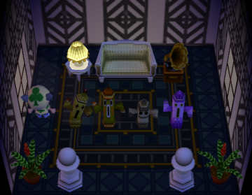 Interior of Cesar's house in Animal Crossing