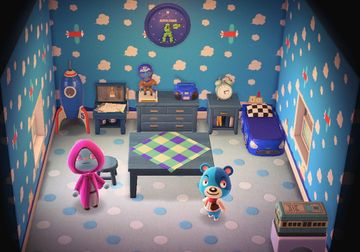 Interior of Kody's house in Animal Crossing: New Horizons