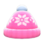 Snowy Knit Cap (Pink) NH Icon.png
