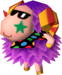 Woolio, an Animal Crossing villager.