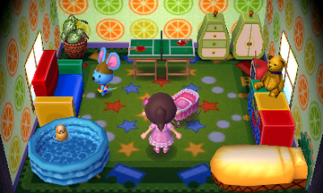 Interior of Broccolo's house in Animal Crossing: New Leaf